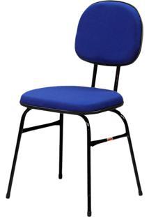 Cadeira Miami Fixa Azul Espuma Injetada Fabone Móveis