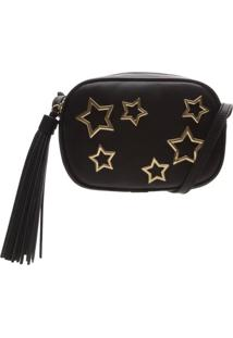 Bolsa Tiracolo Stars Black   Schutz