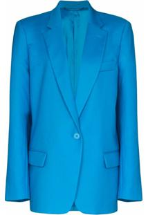 The Attico Blazer Oversized Com Abotoamento Simples - Azul