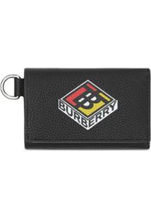 Burberry Carteira Pequena Com Logo - Preto