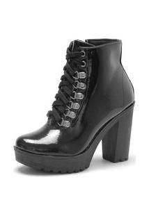 Bota Navit Shoes Tratorada Verniz Copenhagen Preta