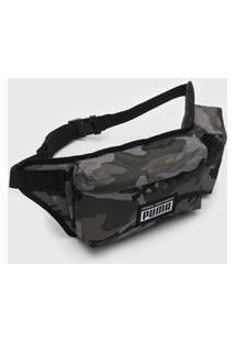 Pochete Puma Academy Multi Waist Bag Verde/Preto