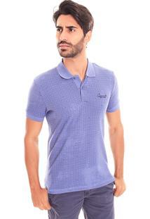 Camiseta Polo Convicto Estampada Azul