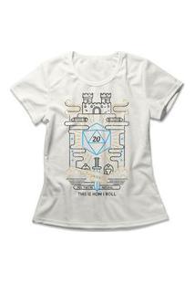 Camiseta Feminina How I Roll Off-White
