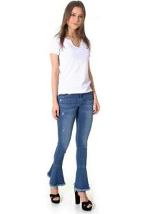 Calça Jeans Opera Rock Skinny Feminina - Feminino-Azul