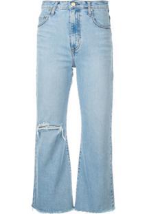 Nobody Denim Calça Jeans Flare Cropped - Azul