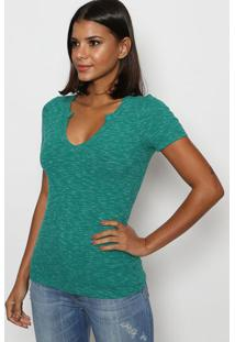 Camiseta Canelada Mescla - Verde - Tritontriton