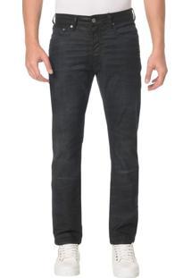 Calça Jeans Five Pocktes Slim Straight Ckj 025 Slim Straight - Preto - 38