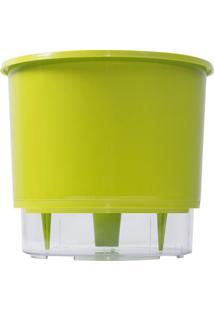 Vaso Autorrigável Médio- Incolor & Verde Limão- 11,4Raiz Vasos Autoirrigáveis
