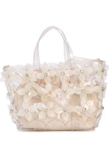 Zac Zac Posen Bolsa Floral Bouquet Shopper - Branco