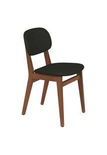 Cadeira London Tramontina 14060135 Amêndoa Estofado Preto