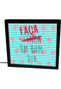 Luminária Lightbox Preta Faça Um Bom Dia Prolab Gift
