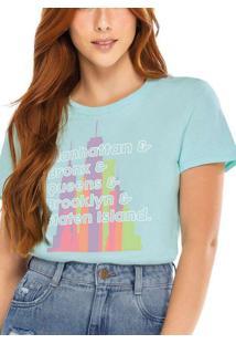 Camiseta Feminina Enfim 1000083893 01875-Verde