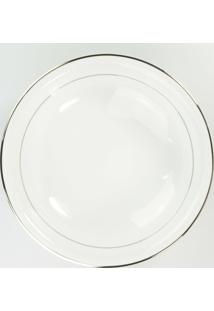 Saladeira 24 Cm Porcelana Schmidt - Dec. Renda Branca