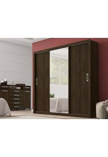 Guarda-Roupa Casal 3 Portas Residence Ebano Touch - Demobile
