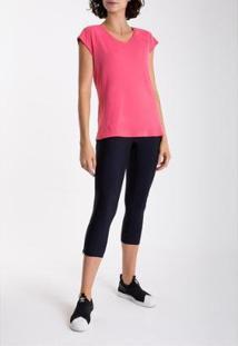 Camiseta Race Skin Fit Lygia E Nanny Feminina - Feminino-Rosa