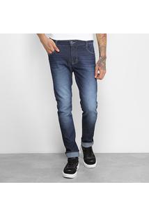 Calça Jeans Skinny Fit Coca-Cola Masculina - Masculino-Jeans