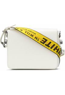 Off-White Bolsa 'Binder Clip' De Couro - Branco