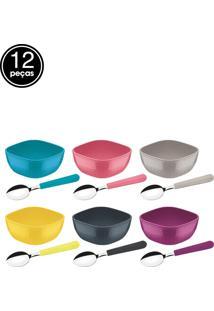 Jogo De Sobremesa 12Pçs Mix Color Mis Multicolorido Tramontina