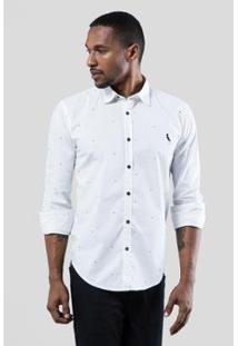 Camisa Pf Reserva Enxuto Cora Masculina - Masculino-Branco