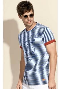 Camiseta Masculina Em Modelagem Regular Com Estampa