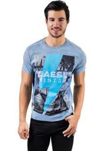 Camiseta Aes 1975 Coast Masculina - Masculino-Azul