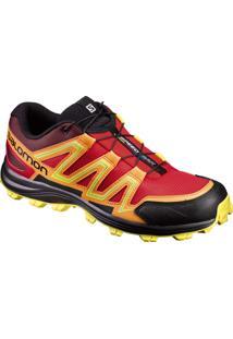 Tênis Salomon Masculino Speedtrak Vermelho/Amarelo 44