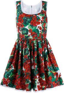 Dolce & Gabbana Vestido Floral - Vermelho