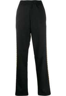 Moschino Printed Side Panels Track Trousers - Preto