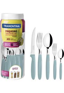 Faqueiro Tramontina 23398288 Ipanema Aço Inox 30 Peças Menta