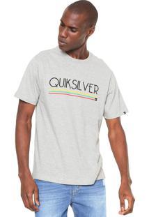 Camiseta Quiksilver Set Cinza