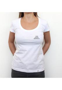 Mini Tipo Não Estou Disposta - Camiseta Clássica Feminina
