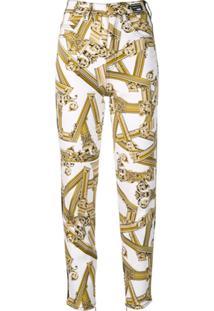 Versace Jeans Jaqueta Roman Com Estampa - Branco