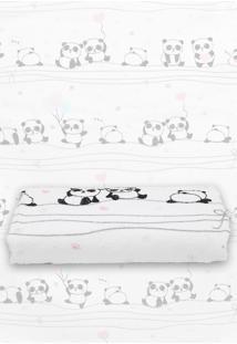 Toalha De Banho Panda Branca/Rosa - Branco - Dafiti