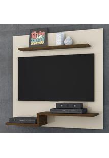 Painel Para Tv Luna 259122 Off White/Savana - Madetec