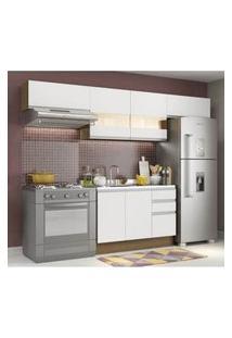 Cozinha Compacta Madesa Marina Rustic/Branco