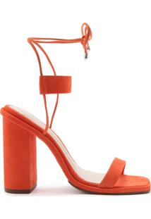 Sandália Tornozeleira Nobuck Orange | Schutz