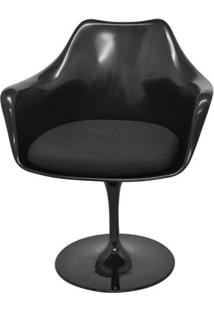 Cadeira Saarinen Com Braco Preto Base Giratoria - 40554 - Sun House