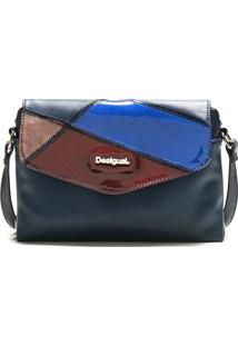 Bolsa Tiracolo Desigual Color Block Azul-Marinho