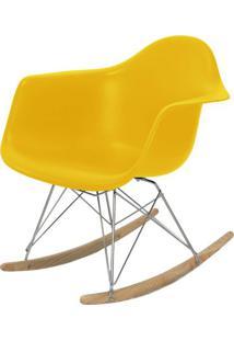 Cadeira Eames Com Braco Base Balanco Amarelo Fosco - 24504 Sun House