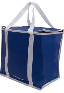 Bolsa Térmica 18 Litros Guepardo Easy Pack G Azul E Branco