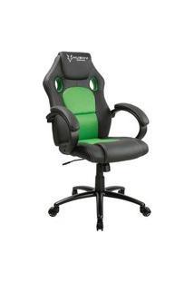 Cadeira Gamer Husky Gaming Snow, Preto E Verde, Cilindro De Gás Classe 4, Base Em Metal, Roda Em Nylon - Hgma018
