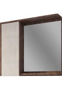 Espelheira Para Banheiro Drop 56X62Cm Wengue E Rovere