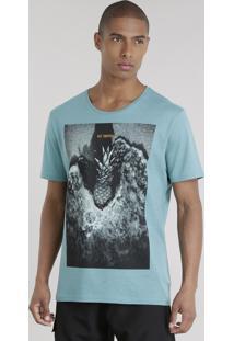 "Camiseta ""Get Tropical"" Verde"