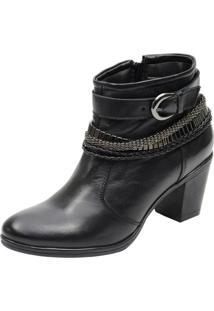 Bota Country Cano Curto Mr Shoes Em Couro Preto - Kanui