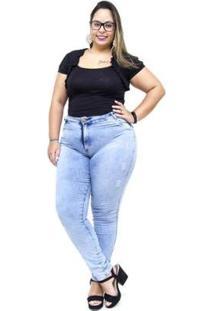 Calça Jeans Feminina Helix Plus Size Skinny Evanise - Feminino-Azul