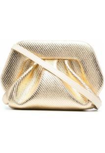 Themoirè Clutch Com Efeito Metálico - Dourado