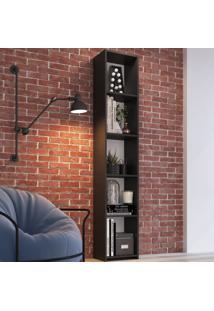 Estante Para Livros 5 Prateleiras Mo050 Preto - Art In Móveis