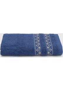Toalha De Banho Santista Prata Lalique Azul