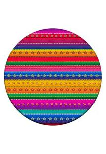 Tapete Love Decor Redondo Wevans Mexican Color Multicolorido 84Cm